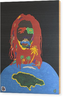 Peter Tosh Bush Doctor Wood Print by Stormm Bradshaw