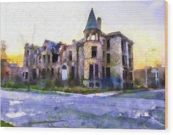 Peterboro Castle Ruins Wood Print by Priya Ghose