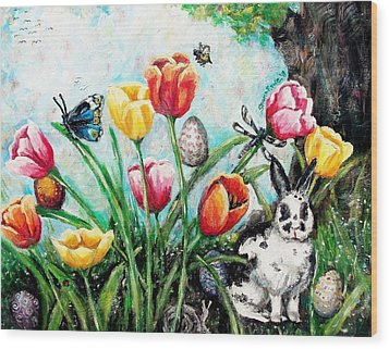 Peters Easter Garden Wood Print by Shana Rowe Jackson
