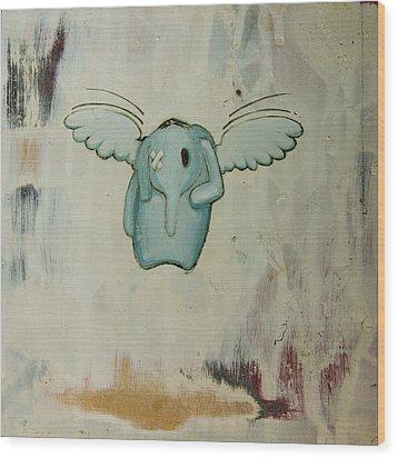 Pete's Angel Wood Print by Konrad Geel