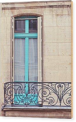 Petit - Parisian Balcony  Wood Print