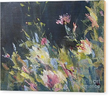 Wood Print featuring the painting Petite Bouquet by Mary Lynne Powers