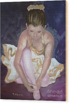Wood Print featuring the painting Petite Danseuse - Original Sold by Therese Alcorn