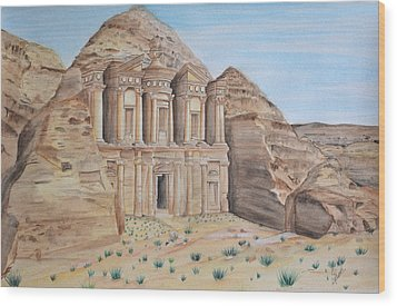 Petra Wood Print by Swati Singh