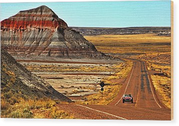 Petrified Forrest Highway-1964 Shelby 289 Cobra Wood Print by Howard Koby