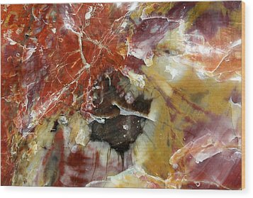 Petrified Wood Wood Print