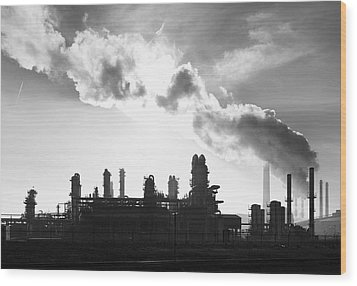 Petrochemical Plant Wood Print by Hans Engbers