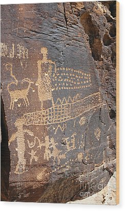 555p Petroglyph - Nine Mile Canyon Wood Print by NightVisions