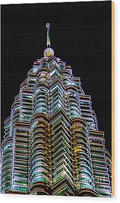 Petronas Tower Wood Print by Adrian Evans