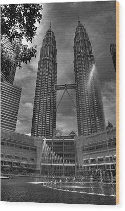 Petronas Tower Wood Print by Mario Legaspi