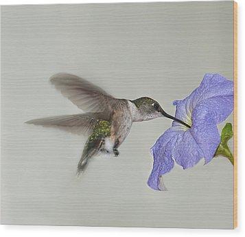 Petunia Delight Wood Print