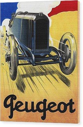 Peugeot Advert Wood Print by Lyle Brown