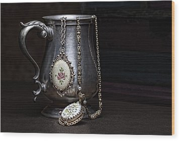Pewter Cup Still Life Wood Print by Tom Mc Nemar
