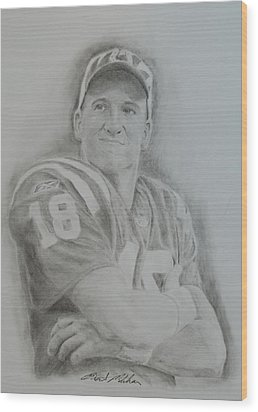 Peyton Manning Wood Print by Brent  Mileham