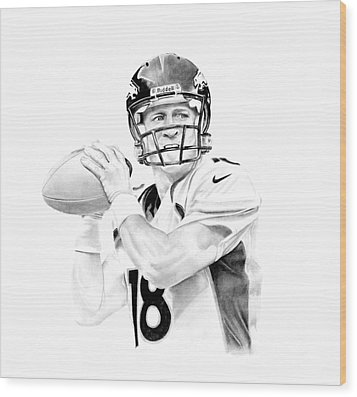 Peyton Manning Wood Print by Don Medina