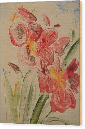Phalaenopsis In Pink Wood Print by Valerie Lynch
