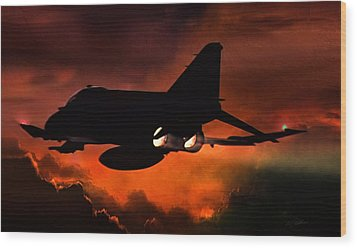 Phantom Burn Wood Print by Peter Chilelli