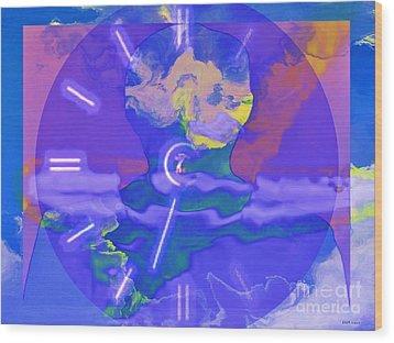 Phantom Crash Of Flight 334 Wood Print by Elizabeth McTaggart