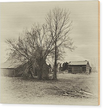 Phantom Farm Wood Print