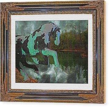 Phantom On The Lake Wood Print by Betsy Knapp