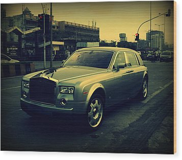 Wood Print featuring the photograph Rolls Royce Phantom by Salman Ravish