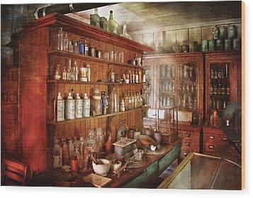 Pharmacist - Behind The Scenes  Wood Print by Mike Savad