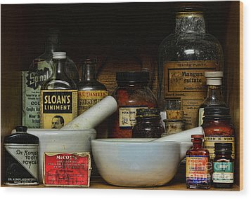Pharmacist - Cod Liver Oil And More Wood Print by Paul Ward