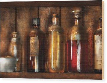 Pharmacist - Various Elixirs  Wood Print by Mike Savad