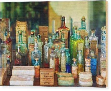 Pharmacist - Whatever Ails Ya - II Wood Print by Mike Savad