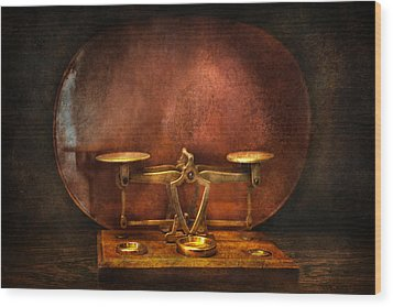 Pharmacy - Balancing Act  Wood Print by Mike Savad