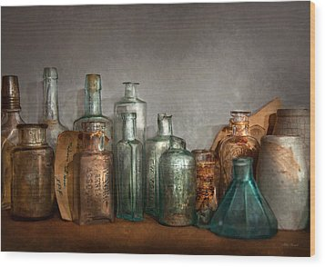 Pharmacy - Doctor I Need A Refill  Wood Print by Mike Savad