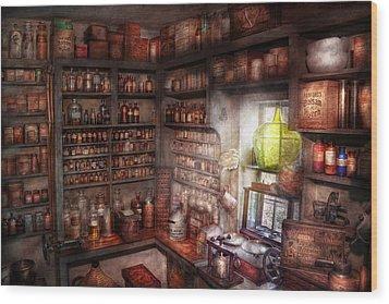 Pharmacy - Equipment - Merlin's Study Wood Print by Mike Savad