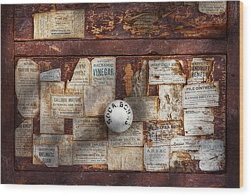 Pharmacy - Signs Of The Time  Wood Print by Mike Savad