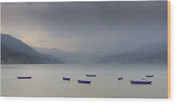 Phewa Lake In Pokhara Wood Print