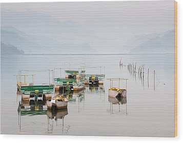 Phewa Lake In Pokhara Nepal Wood Print