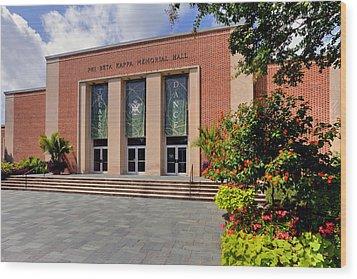 Phi Beta Kappa Hall Wood Print