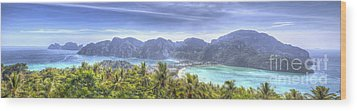 Phi Phi Island Wood Print by Alex Dudley