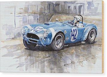 Phil Hill Ac Cobra-ford Targa Florio 1964 Wood Print by Yuriy Shevchuk