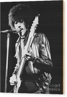 Phil Lynott Wood Print by David Fowler