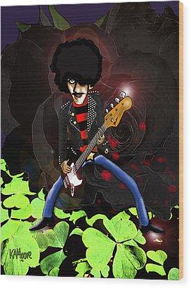 Phil Lynott Of Thin Lizzy Wood Print