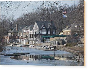 Philadelphia - Boat House Row Wood Print