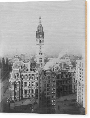 Philadelphia City Hall 1900 Wood Print by Bill Cannon