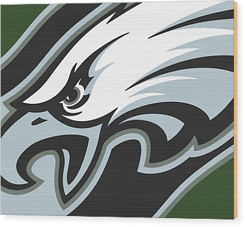 Philadelphia Eagles Football Wood Print by Tony Rubino
