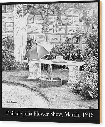 Philadelphia Flower Show Display 1916 Wood Print by A Gurmankin