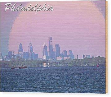 Philadelphia  Wood Print by Tom Gari Gallery-Three-Photography