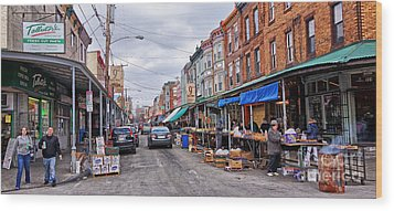 Philadelphia Italian Market 2 Wood Print by Jack Paolini
