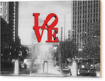 Philadelphia Love Fusion Wood Print