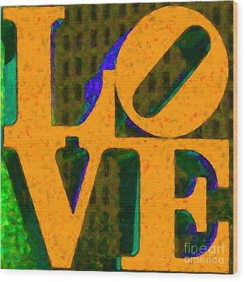 Philadelphia Love - Painterly V4 Wood Print by Wingsdomain Art and Photography