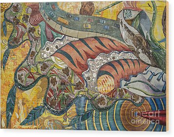 Philadelphia Mural Wood Print by John Greim
