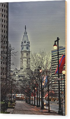 Philadelphia's Iconic City Hall Wood Print by Bill Cannon